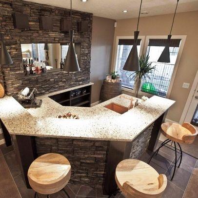 Best 25 stone bar ideas on pinterest basement bar for Do it yourself home bar designs