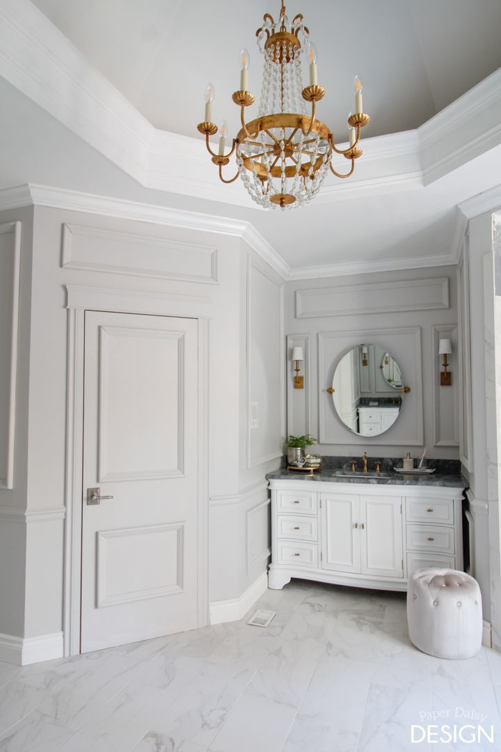 Paper Daisy Design Fall 2016 One Room Challenge: Opulent Marble Master Bathroom
