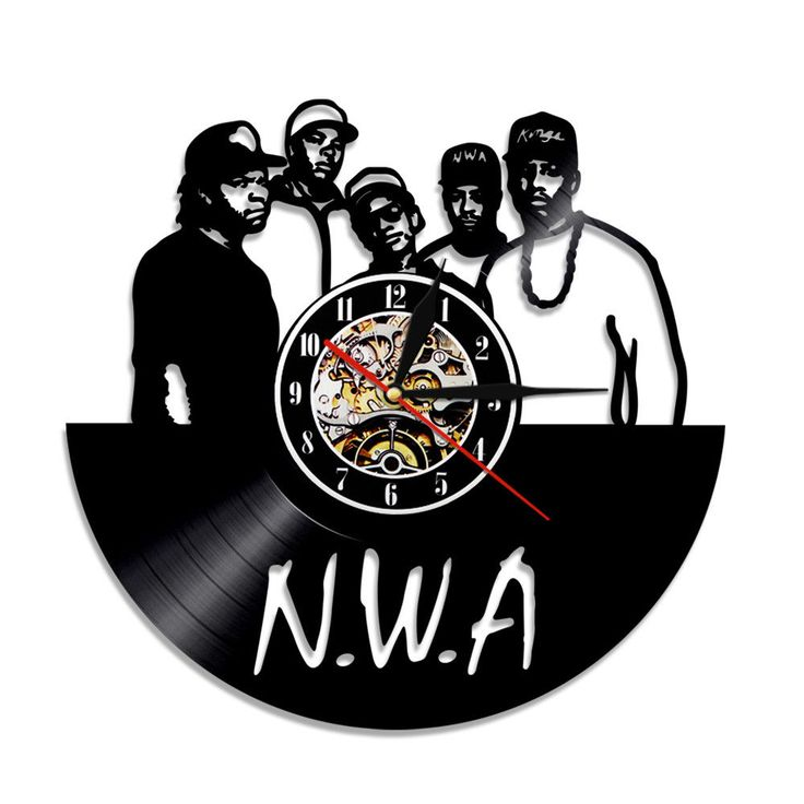 Cd Vinyl Record Clock Compton Nwa Rza Hip Hop Design Wall Clock Gift For Fan