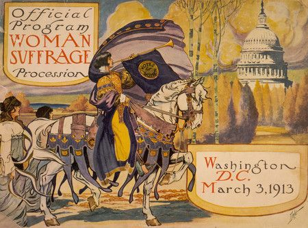 program for the National American Women's Suffrage Association procession, Washington DC, 1913. (My mom was born six months later. Not that long ago.)