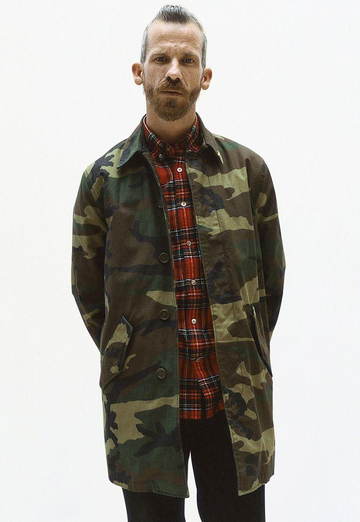 Supreme Fall/Winter 2012 Lookbook: Army Trench Coat, Tartan Plaid Shirt