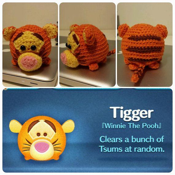 Handmade Tsum Tsum Amigurumi for Winnie the Pooh by uDezignCrafts $30.00 keychain size