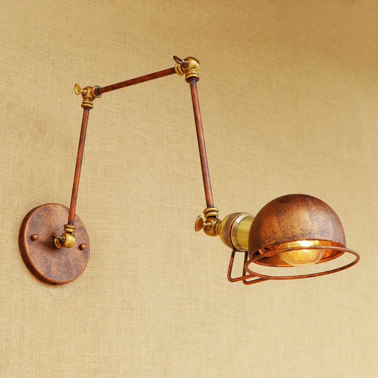 loft style industrial wall sconce vintage wall lamp edison wandlamp adjustable swing long arm light fixtures