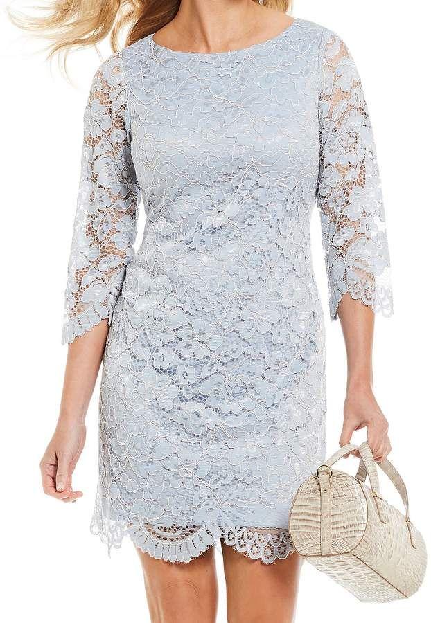688cd1799c22 Jessica Howard 3/4 Sleeve Lace Sheath Dress #Sleeve#Howard#Jessica ...