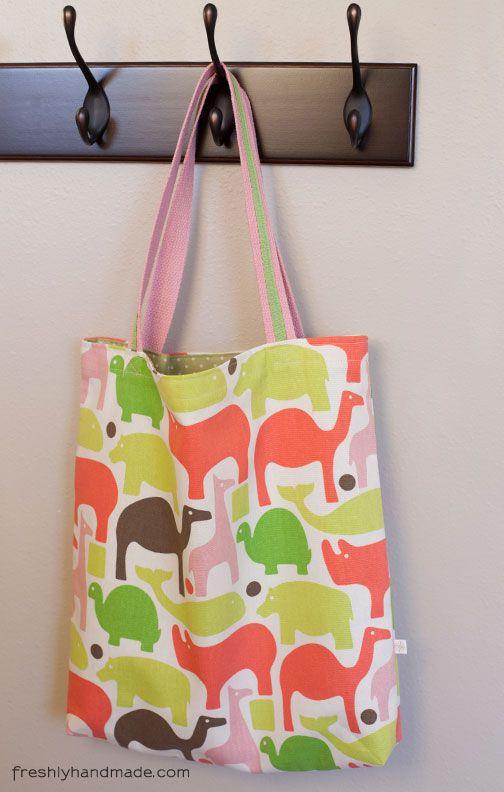 Simple Tutorial Freshly Handmade Kids Lined Tote Bag