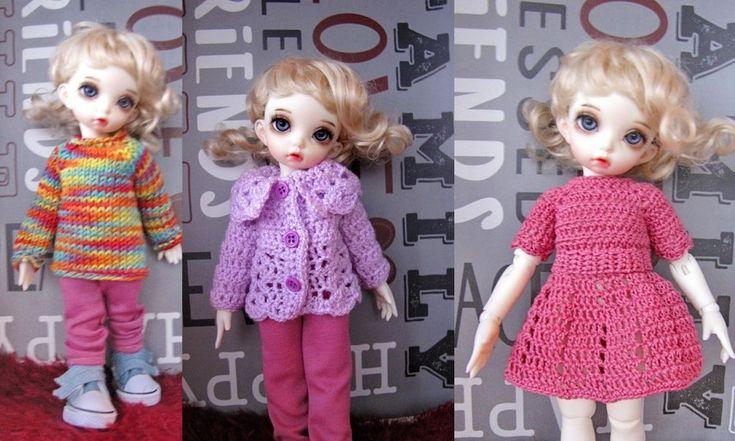 4 PCS clothing for 1/6 bjd fairyland LittleFee Bisou  25 cm #BJDYOSD