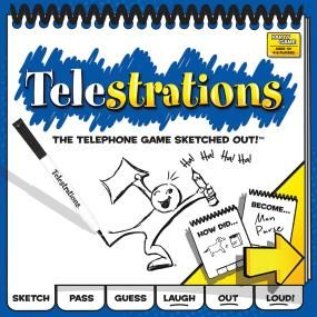 Telestrations - The telephone gamed sketched out.