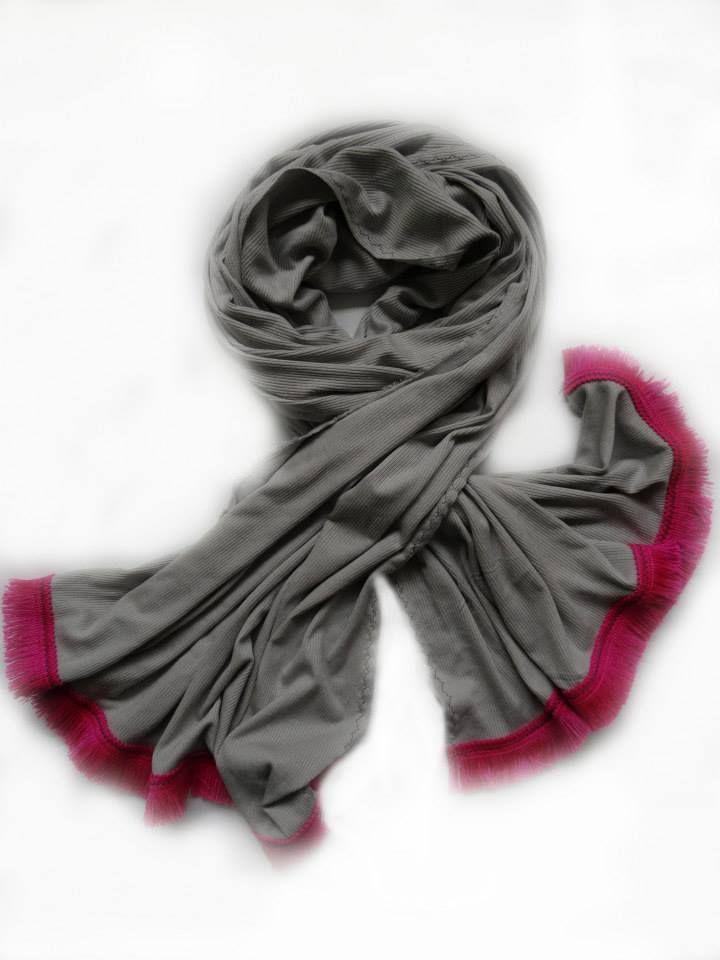 I am Grey and I am Fringed Scarf by Stylesetterz Handmade Scarves @ www.facebook.com/stylesetterzhandmadescarves