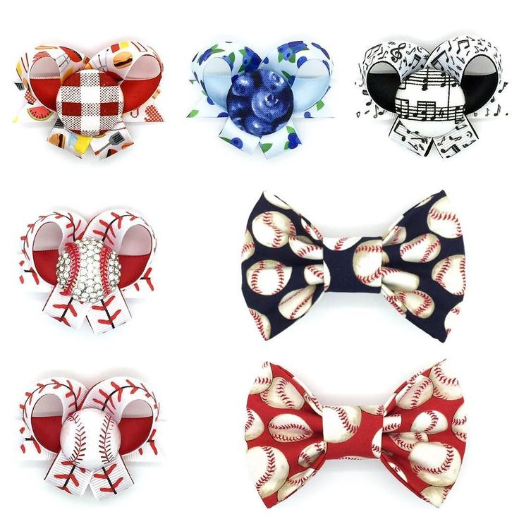 "We have a bit of a mixture of new creations to share with you today! As it's baseball season we thought it was only right that we come out with new bows and bow ties! And along with them we have three new 5/8"" ribbon bows with a new type of embellishment were trying. What do you guys think?! #snapindogbows #dogbows #dogbowtie #dogaccessories #baseball #labrador #goldenretriever #australianshepherd #shihtzu #poodle #chihuahua #bordercollie #bulldog #corgi #germanshepherd #pug…"