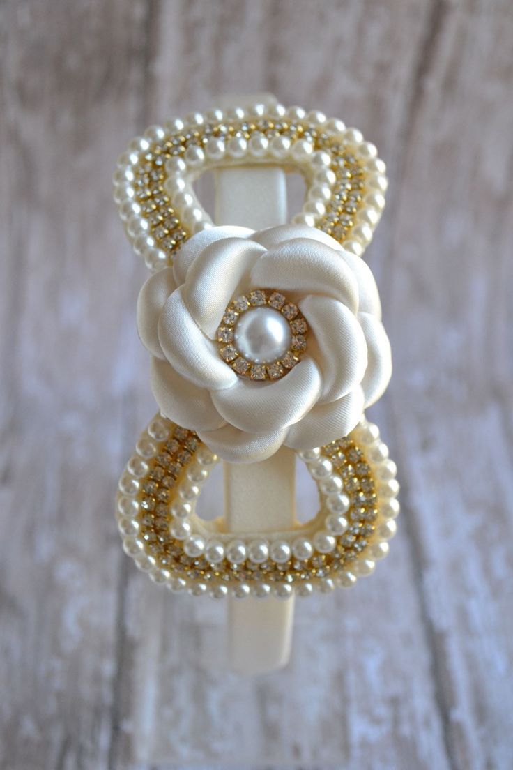 Flower girl Headband - First Communion Headband - Wedding Headband - Flower…