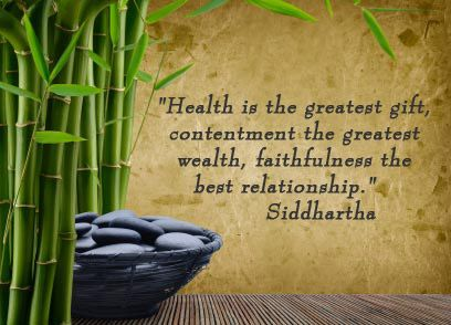 health quote from Buddha
