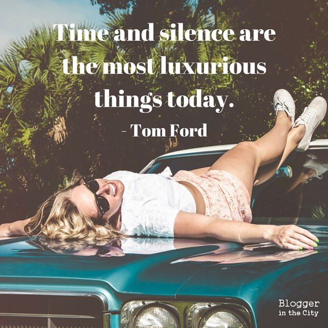 QUOTE // Time and silence are the most luxurious things today - Tom Ford ••• Wat doe jij om helemaal tot jezelf te komen zonder afleiding van buitenaf of het internet?   Bloggerinthecity.nl