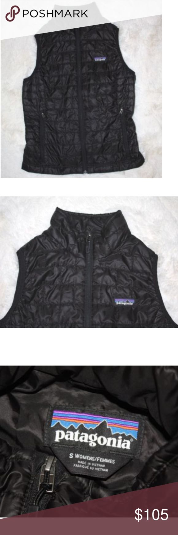 "Patagonia Down Sweater Vest like NEW Patagonia Women's Down Sweater Vest Size Small Black I only worn it once!! It unfortunately does not fit anymore. In perfect condition!   Bust: 17.5"" Length: 25"" Patagonia Jackets & Coats Puffers"