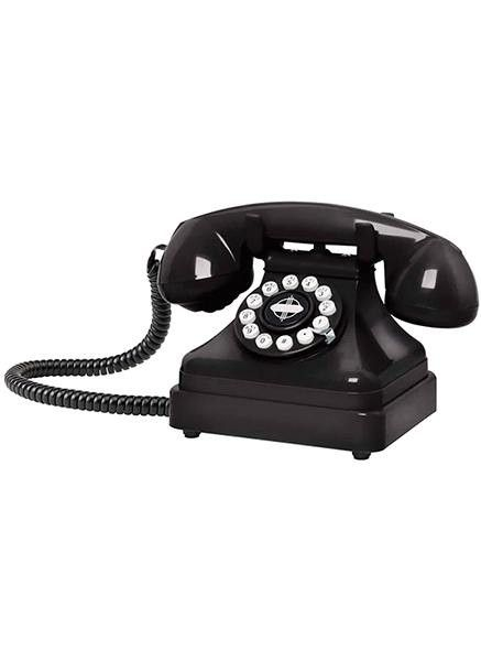 Crosley's Kettle Classic Desk Phone captures the essence of the classic 1930's European-style telephone. This beauty was originally cast in a heavy-duty metal and then later reconditioned in a lightwe