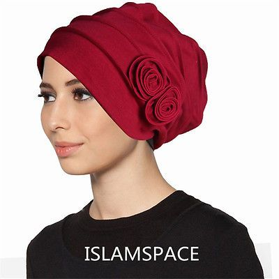 muslim abaya Flower Hijab Caps Cotton  Underscarf Hats For Women