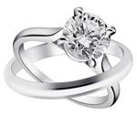 Cartier Solitaire 1895 Wedding ring Solitaire 1895, platinum, central brilliant-cut diamond; Wedding ring, platinum