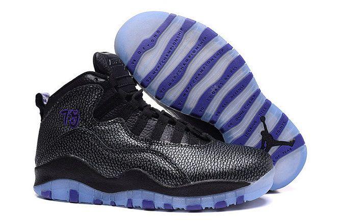 0cbe0d2f72d8 Air Jordan 10 Womens New AIR JORDAN 10 GS Girls Paris Fierce Purple Black  310805 018