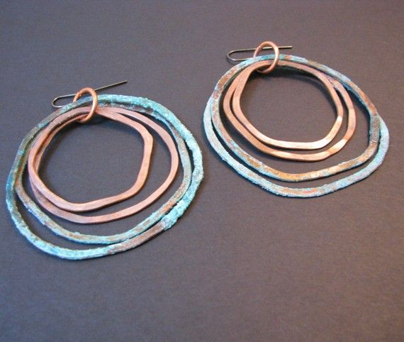 copper earrings. :)