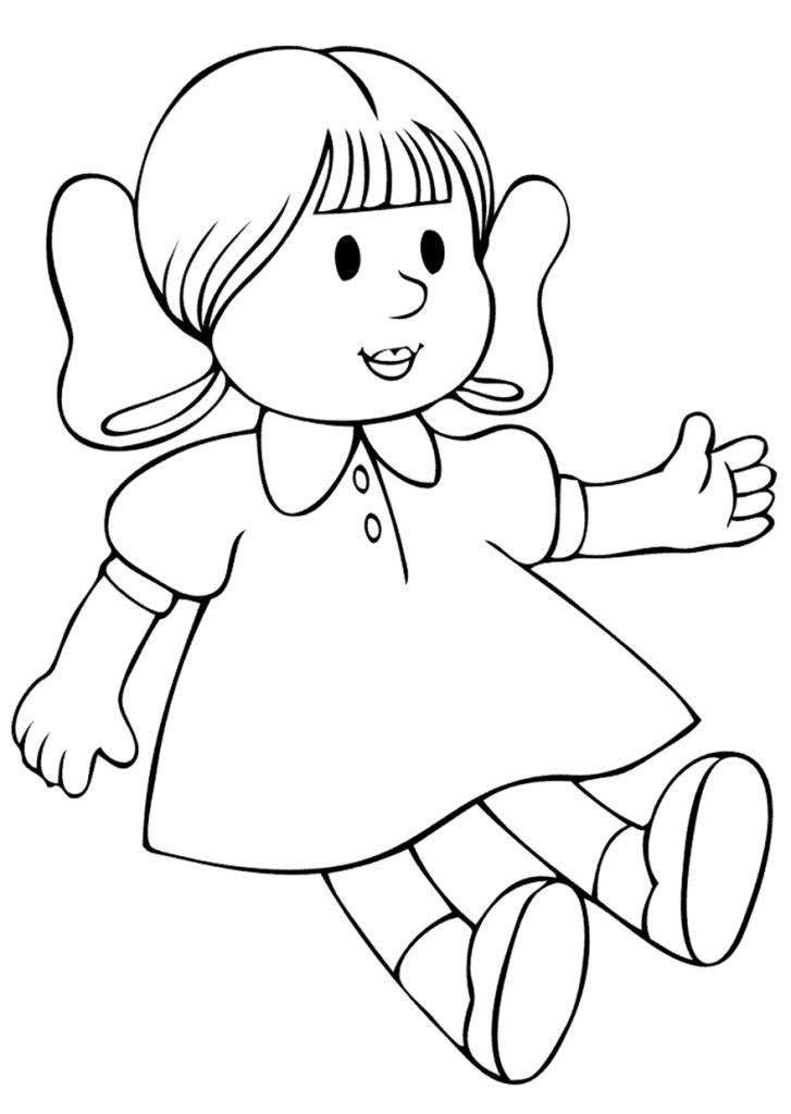 Картинка контурная ребенок