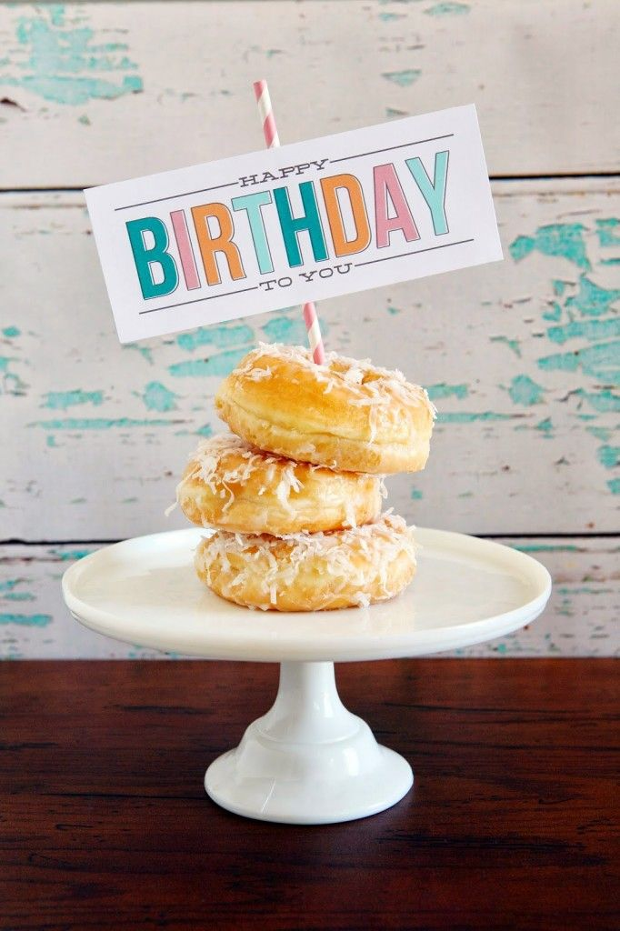 Birthday Morning Treats Printable - Eighteen25