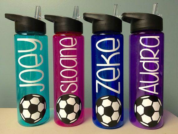 Soccer Gifts Soccer Water Bottle Water Bottle by VtoYouDesigns