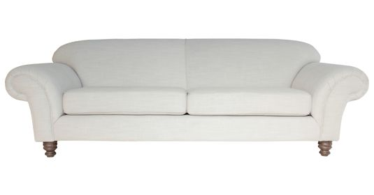 - Channing        Fully Upholstered Couch (  Brugge Linen No.10 ) R7495