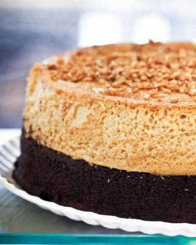 Dessert ~ Flan Imposible (Impossible Chocolate Flan) Recipe - Saveur.com  #saveur #dinnerparty