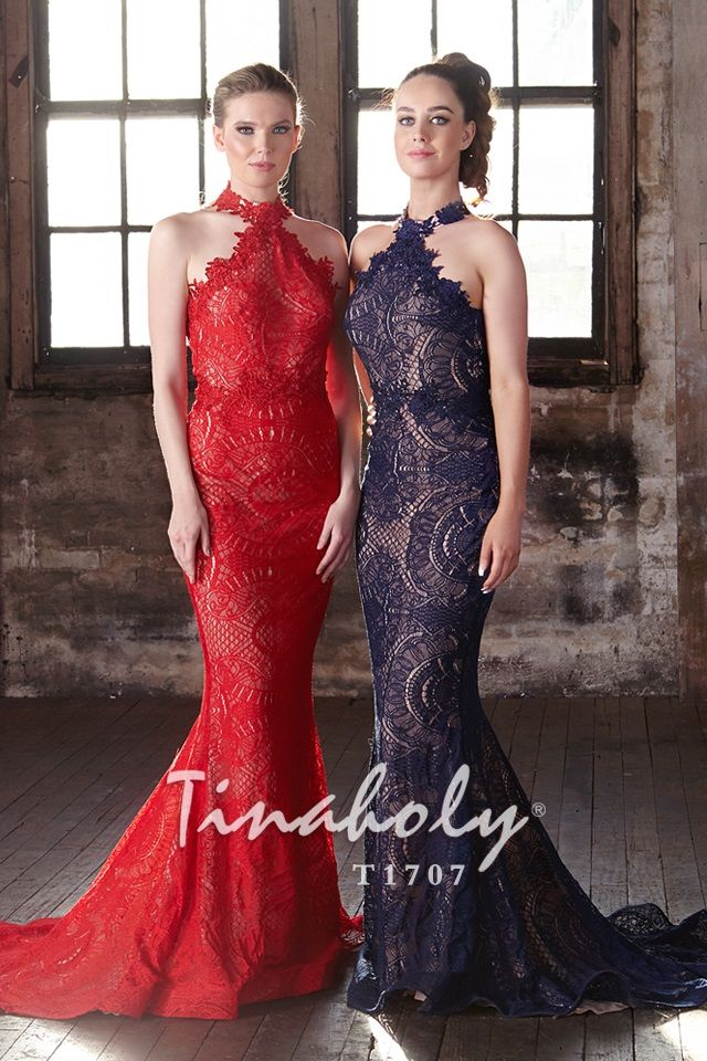 T1707-Red,Navy-LACE