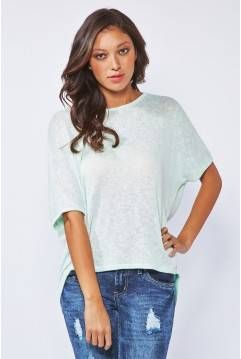 Lightweight Knit Top With Lace Bar-Back