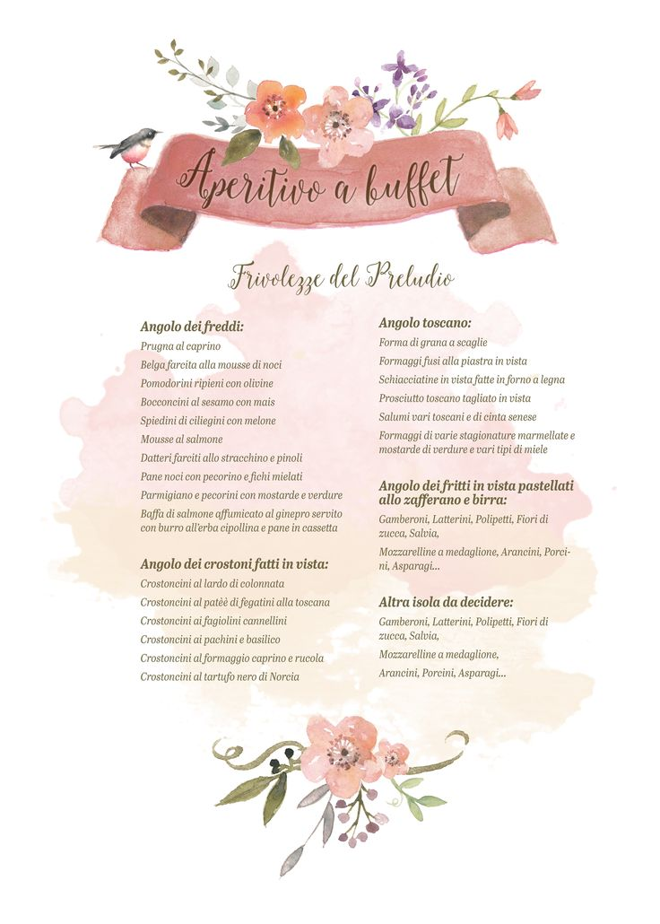 Vera&Matte Wedding  buffet menu
