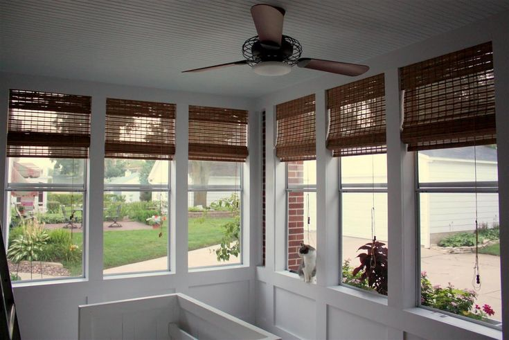 17 best images about porch windows on pinterest window for Blinds for front window