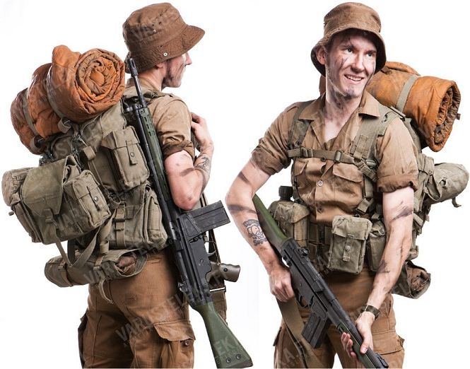SADF infantry. South African / Rhodesian Bush War.