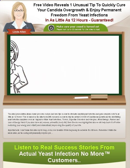 Yeast Infection No Morea c - Cure Yeast - Yeast Infection No More By Linda Allen Cure Your Yeast Infection Naturally Using A Unique 5-Step Holistic System