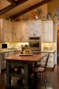 Rustic kitchen. Kitchen of the Day: French Country Kitchen Island and Decor