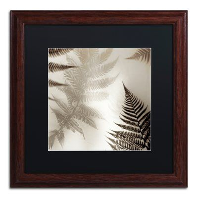 "Trademark Art 'Florison 65' Framed Photographic Print Mat Color: White, Size: 11"" H x 11"" W x 0.5"" D, Frame Color: Birch"