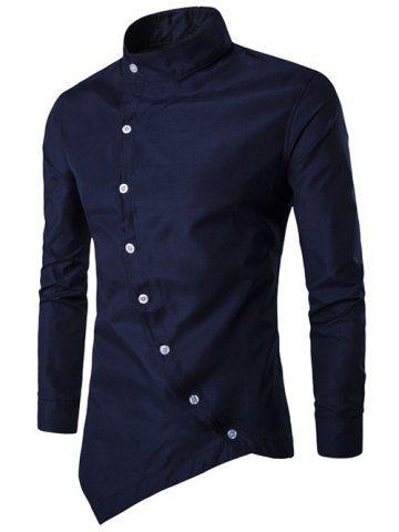 GET $50 NOW | Join RoseGal: Get YOUR $50 NOW!http://www.rosegal.com/mens-shirt/stand-collar-button-up-asymmetric-770857.html?seid=7820848rg770857