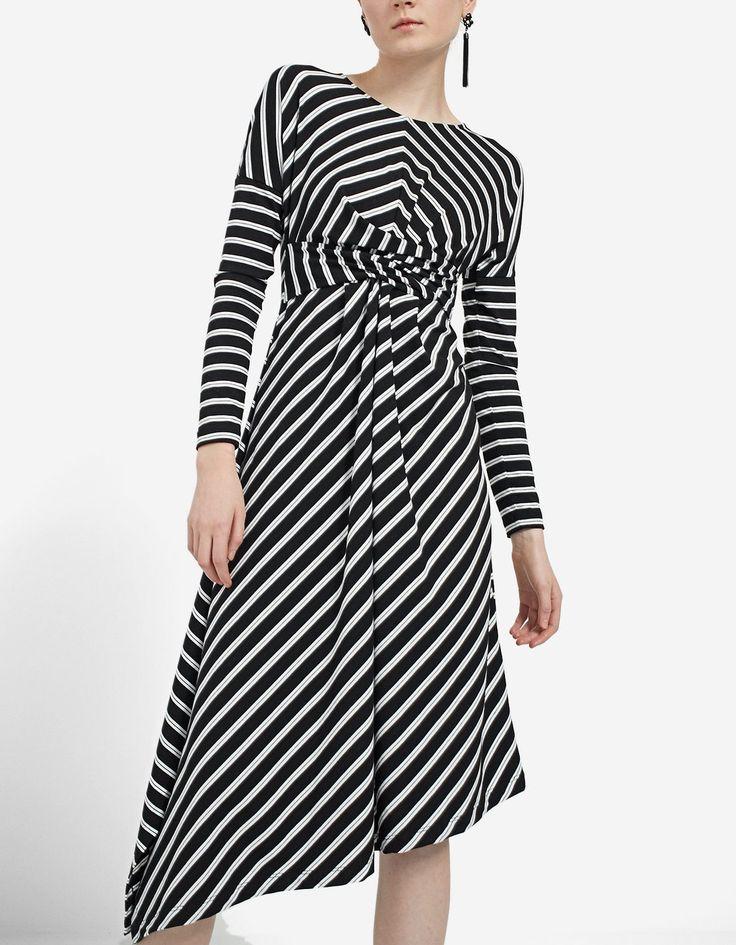 Draped knit dress - JUST IN | Stradivarius México