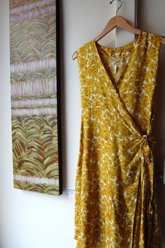 Wrap dress - great fabric (would work with Simple Modern Sewing pattern)