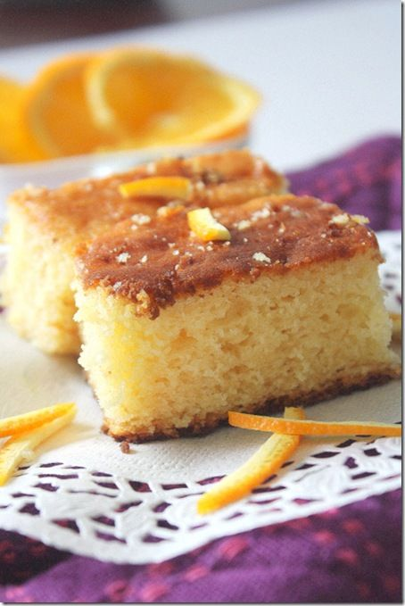 Orange flavored Sponge cake - No egg and no butter recipe