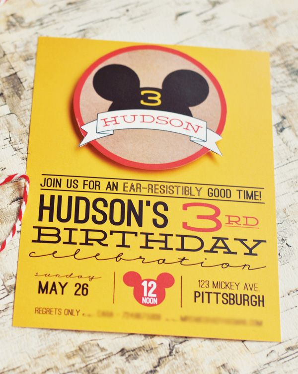 Classic & Crafty Mickey Mouse Birthday Party