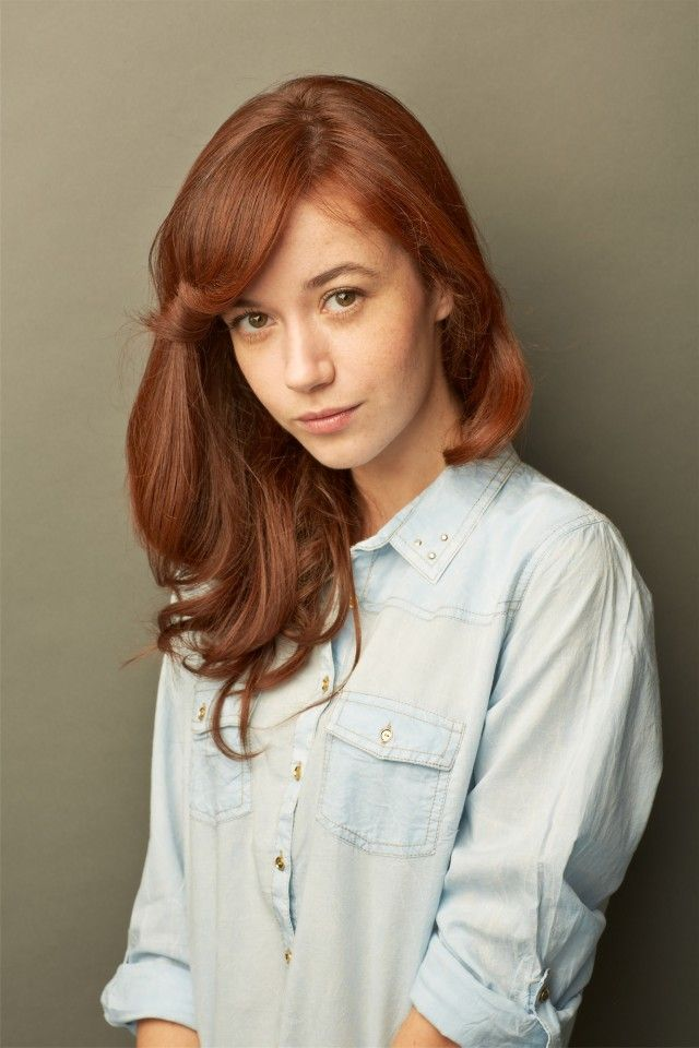 Perfect hair colour in shade of red