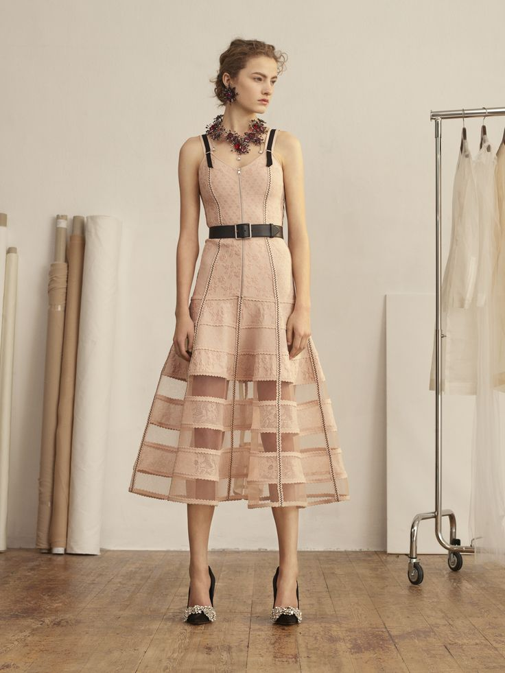 Shop Women's Bustier Midi Knit Dress from the official online store of  iconic fashion designer Alexander McQueen.