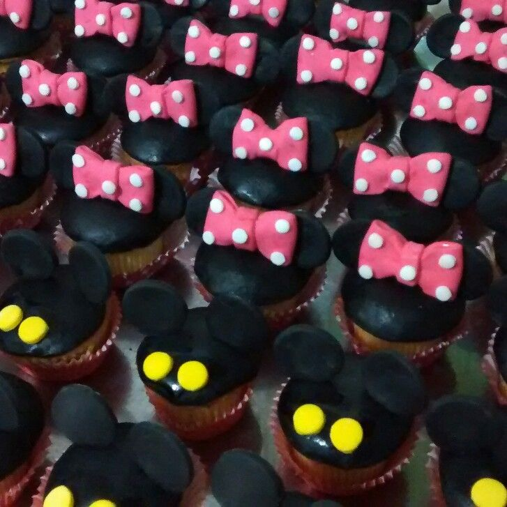 Cupcake minnie mickey mouse