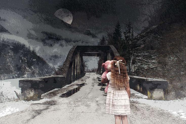 #child #desktop backgrounds #fantasy #forest #full moon #girl #hd wallpaper #horror #nightmare #scary #woods