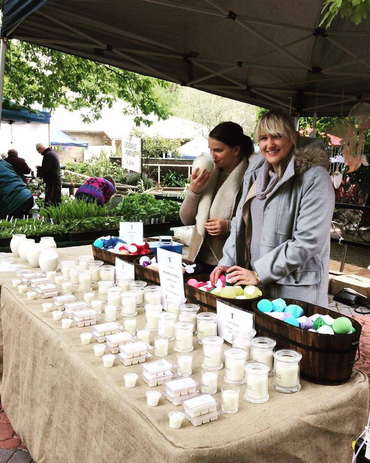 Poor Amanda working away there while I've got my nose stuck into one of our limited edition soy wax candles, exclusive to the Stirling Market.