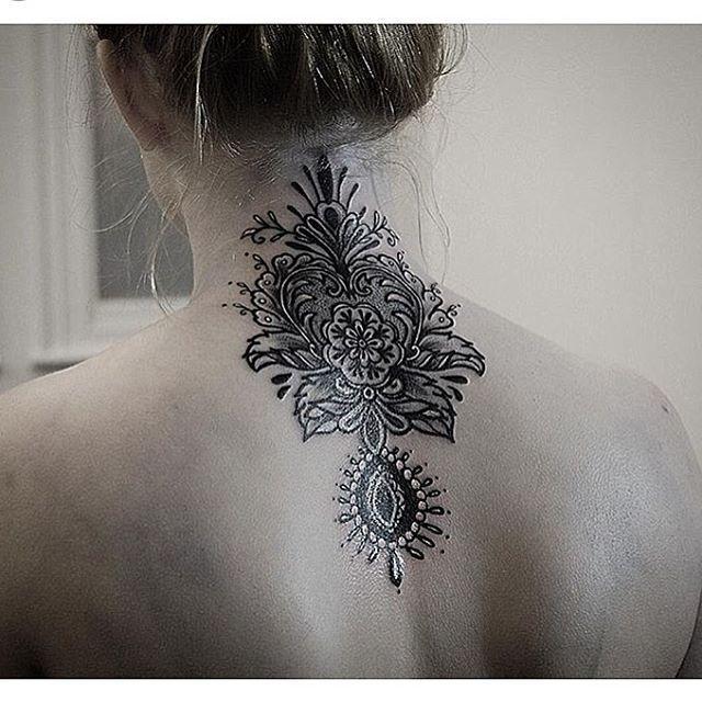 Mehndi Nape Tattoo : Images about mandala nape tattoo on pinterest