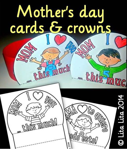 Mother's day cards English and Spanish