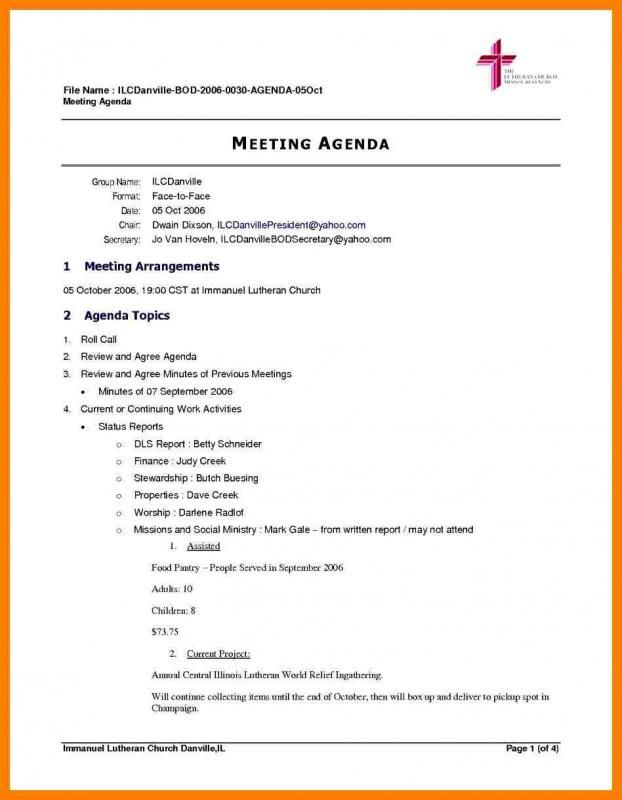 Corporate Minutes Template Meeting Agenda Template Meeting Agenda Agenda Template