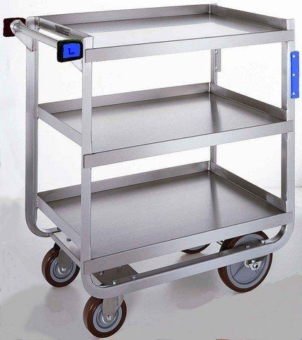 Stainless Steel Heavy Duty Traditional Utility Cart with 3 Shelves by Lakeside. $678.38. Lakeside Stainless Steel Heavy Duty Traditional Utility Cart with 3 Shelves, 19 3/8 x 32 5/8 x 35 1/2 inch -- 1 each.