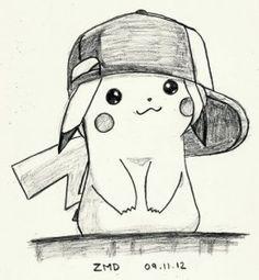 dibujo tierno pikachu a lapiz                                                                                                                                                                                 Más